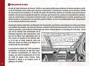 Página 5 de la guía didáctica de El arte de volar