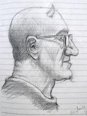 Retrato de Antonio Altarriba realizado por Kim