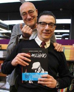 """Antonio Altarriba y Keko guionista y dibujante respectivamente de """"Yo, asesino"""""""