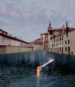 El lago del machete, fotografía realizada por Pilar Albajar y Antonio Altarriba