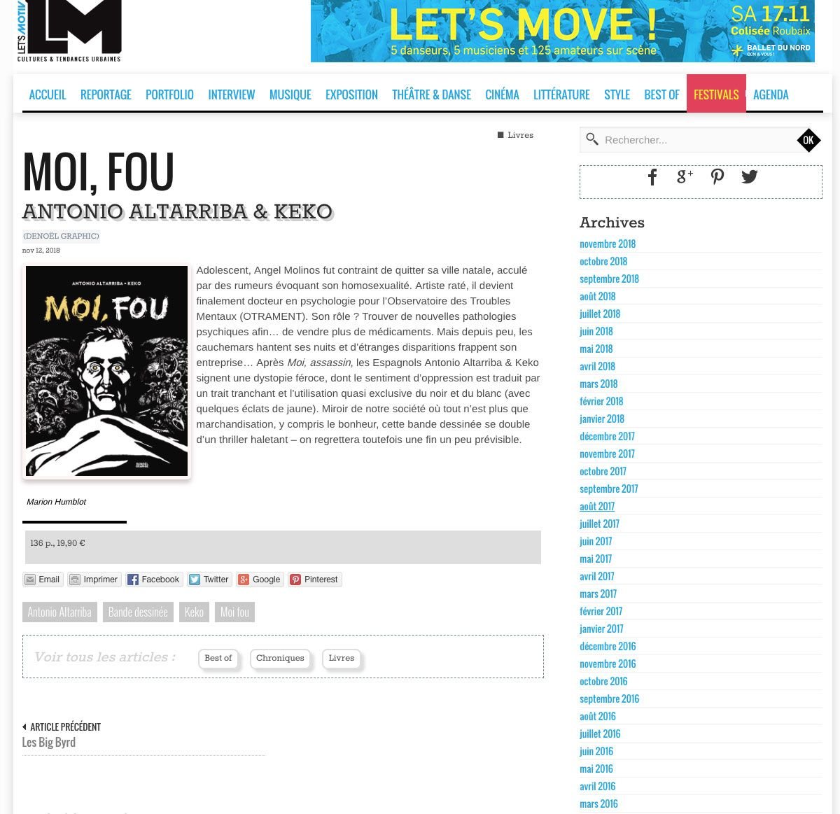 Moi, Fou en lm-magazine.com
